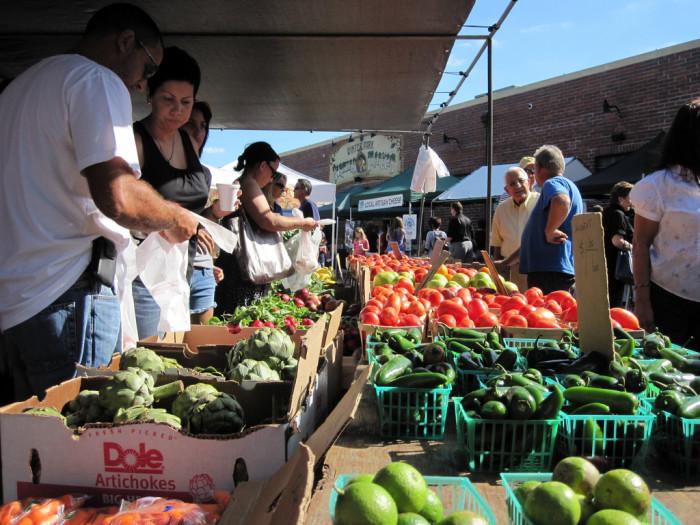 11. Explore a local farmer's market or arts market.