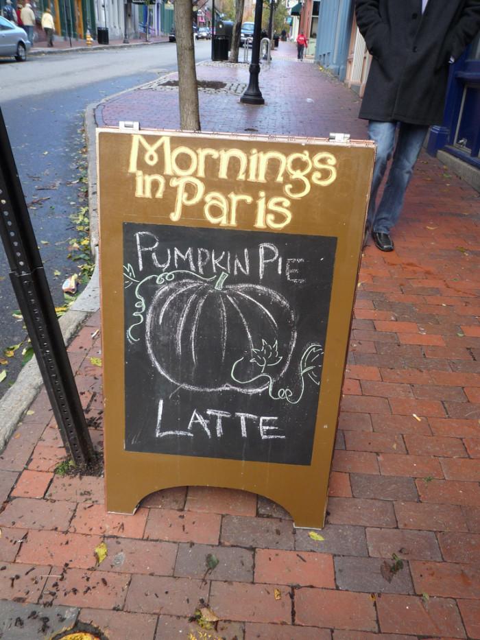 5) Pumpkin Latte