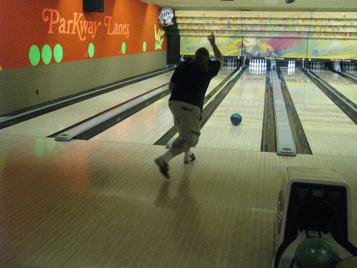 Go bowling! It's relaxing and exciting all at once.