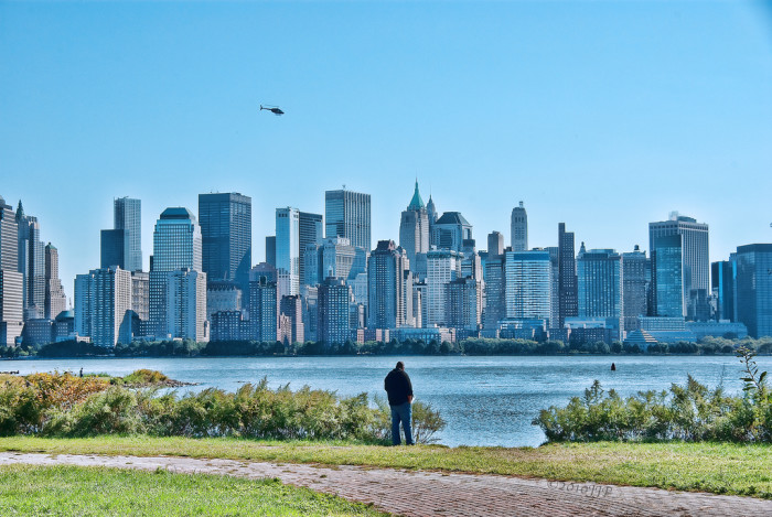 10. Views of lower Manhattan from Jersey City.