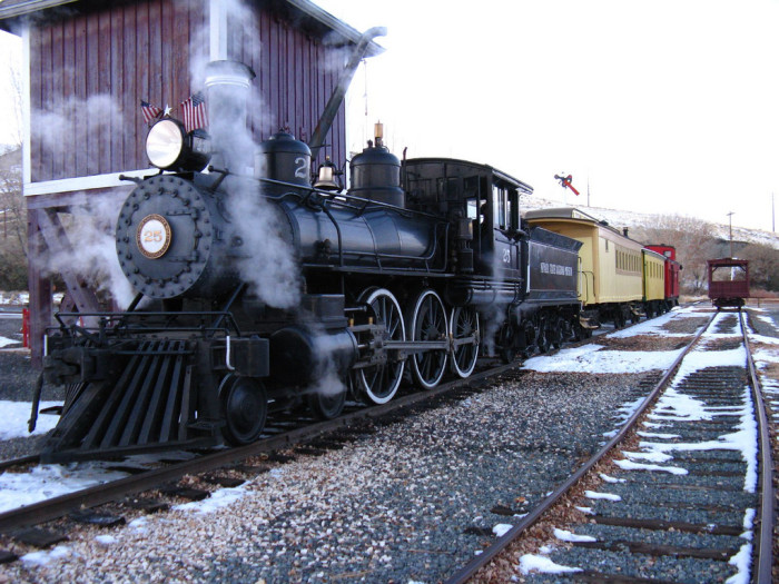 1. The Virginia & Truckee Railroad Engine #25 was built in 1905 and is on display at the Nevada State Railroad Museum.