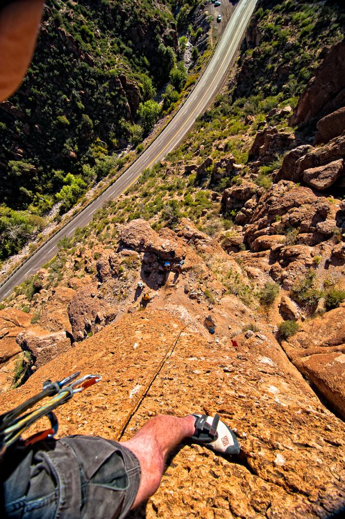 2. Definitely don't look down!