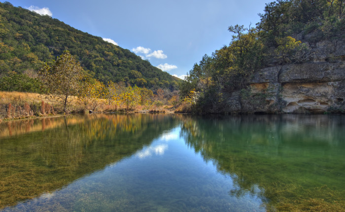4) This photographer captures a quiet moment of reflection in Lost Maples State Natural Area in Vanderpool.