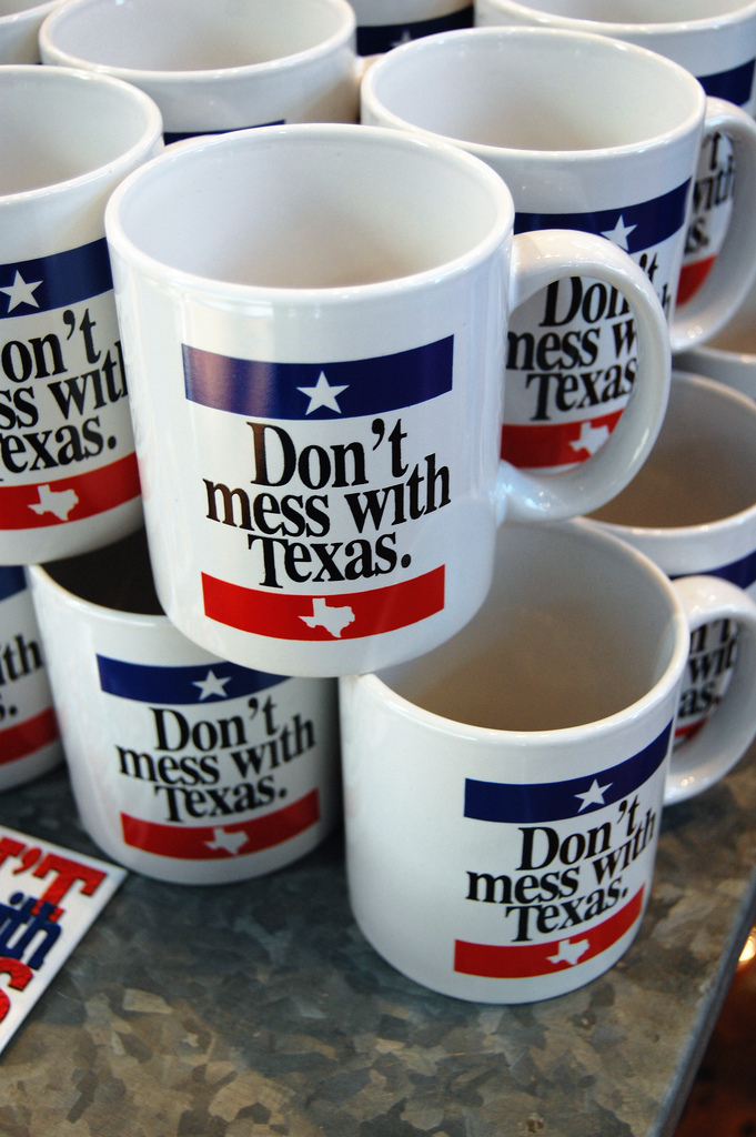 "6) Some sort of item that says ""Don't mess with Texas."""