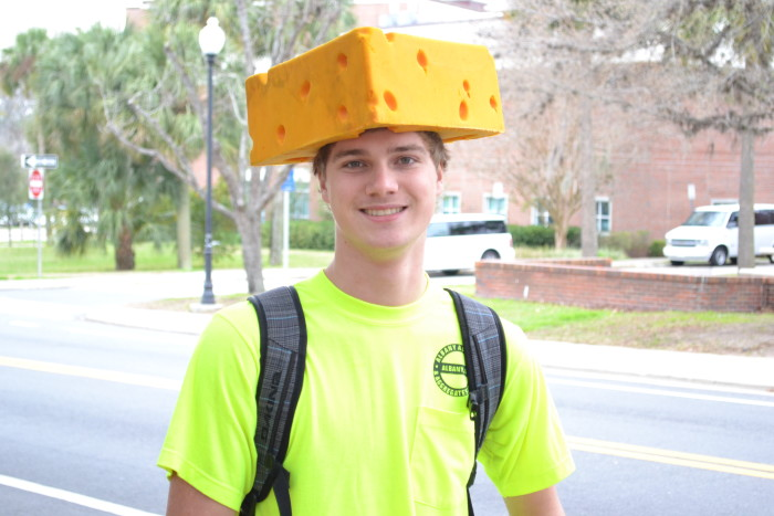 9. Why do those weird people in the state next to us wear cheese on their heads?