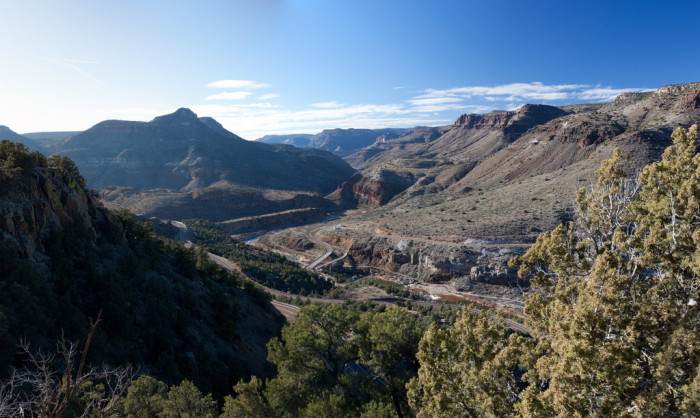 9. Get an incredible view of Salt River Canyon any time of year along US 60 and State Route 77.