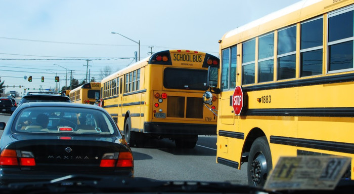 6. School bus traffic is now an extra hurdle to your morning/afternoon commute (because the constant construction simply wasn't enough.)