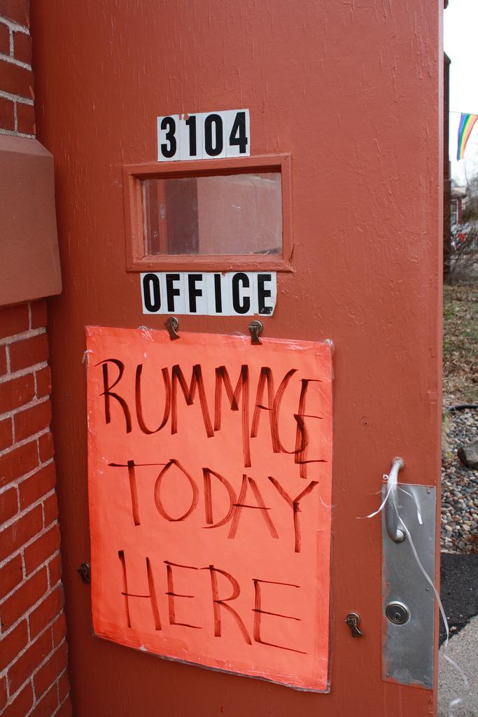 6. Rummage Sale or Jumble Sale
