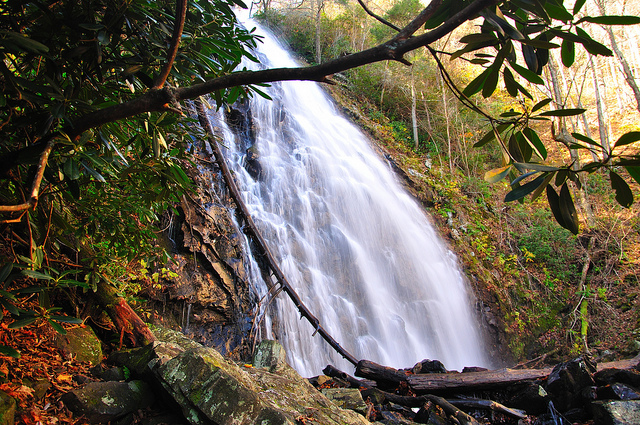 5. Stand beside a waterfall