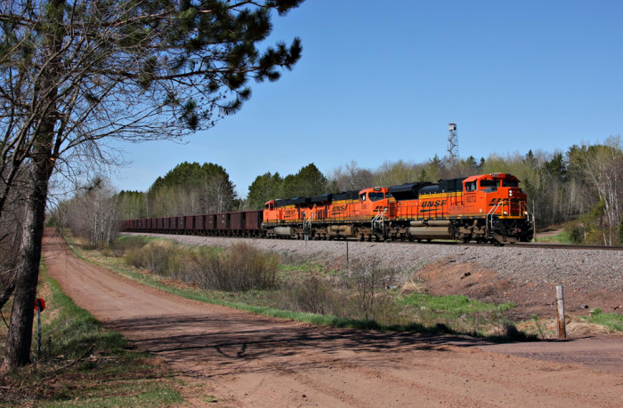 20. Ore train going by Nickerson on a clear day.