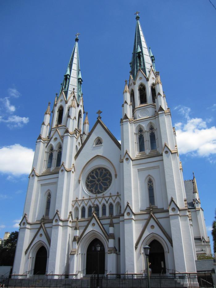 1. Go inside the amazing Cathedral of St. John the Baptist - 222 E Harris St, Savannah, GA 31401