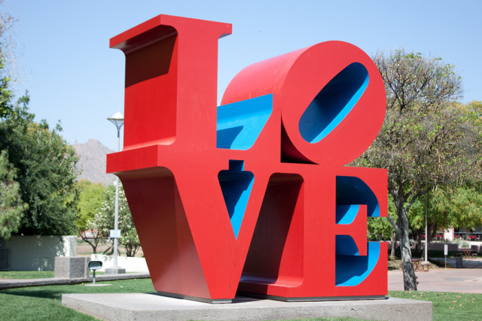 """11. In front of the """"love"""" sign"""