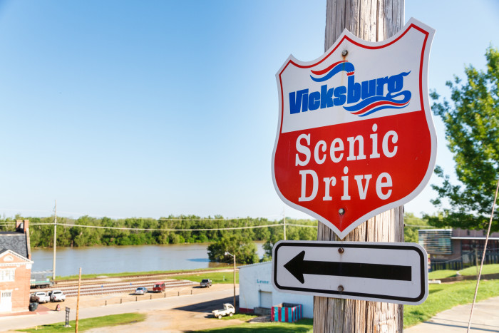 5. Vicksburg's Blue and Red Scenic Drives may be two distinct tours but they both offer beautiful views of the Mississippi River.