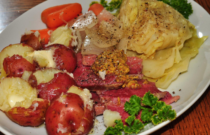 6. Corned Beef & Cabbage