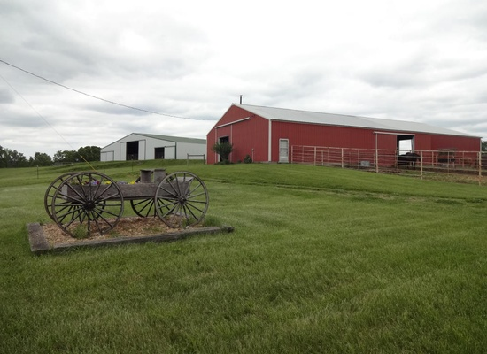 6. 26362 Farm Road 2125, Cape Fair, MO 65624.  For $700,000, you can own your very own farm!  Situated on 205 acres including two large barns, an indoor riding arena, shop, hay storage, 150 acres of fertile hay fields, springs, ponds, riding trails and campground, as well as 55 acres of marketable timber!  The main house is a 2700 square foot home with 3 bedrooms and 2.5 bathrooms.