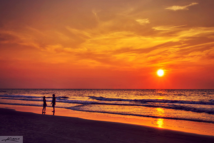 8. Or just watch the sun set on the beach...