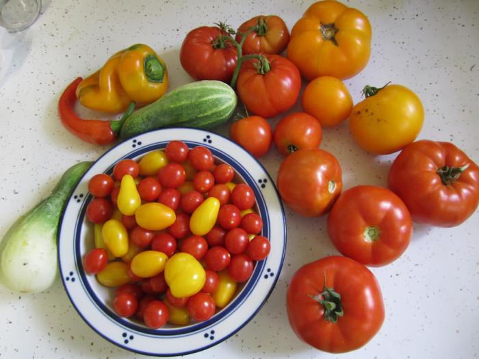 7. Home-grown veggies.