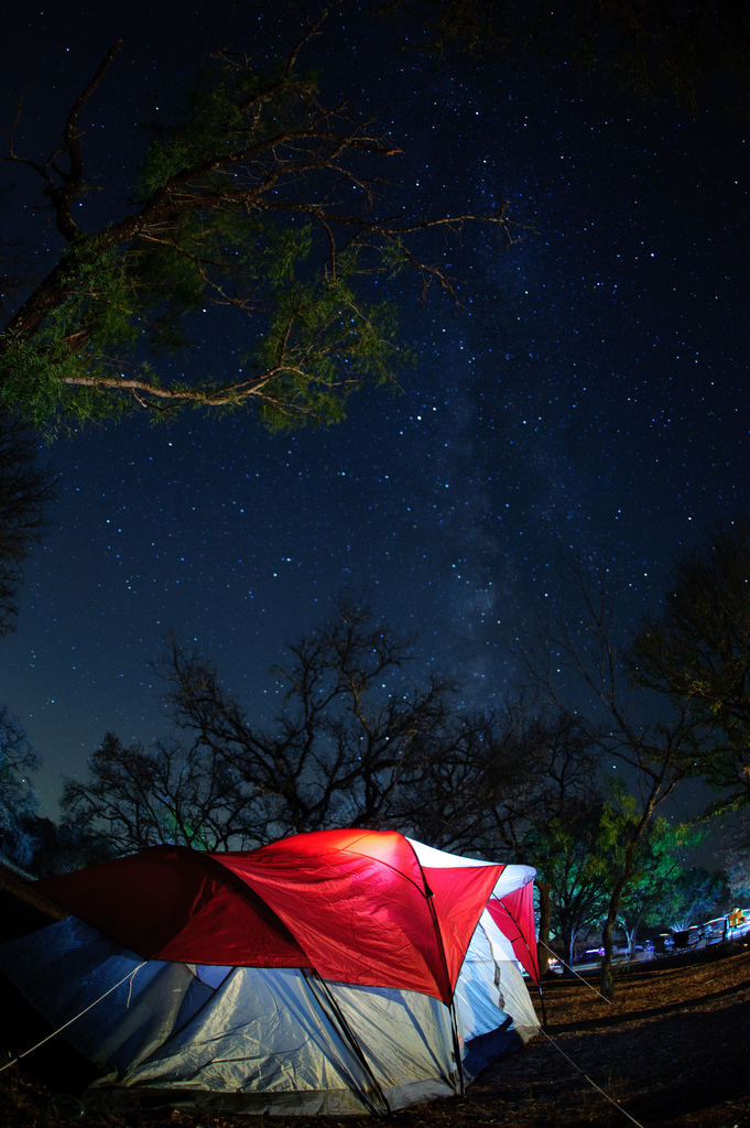 12) We take advantage of the (somewhat) cooler weather by going camping and basking in the view of the starry night skies!