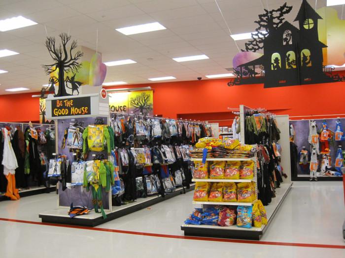 6. Halloween items start filling retail store shelves.