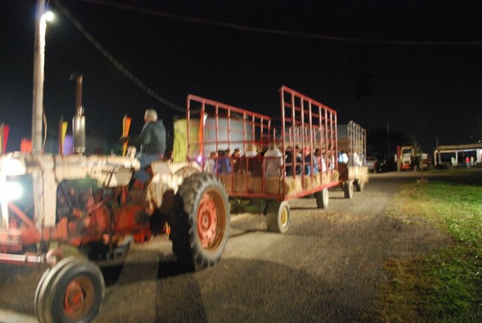 8. Take a haunted hay ride.