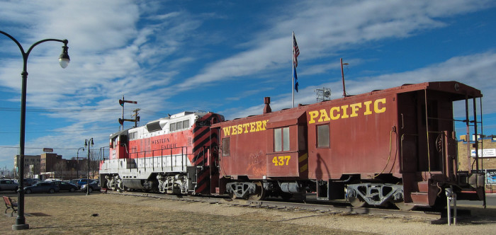 3. Located in Elko, this is a monument to the Western Pacific Railroad.