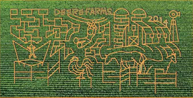 6. Deere Farms Corn Maze and Pumpkin Patch