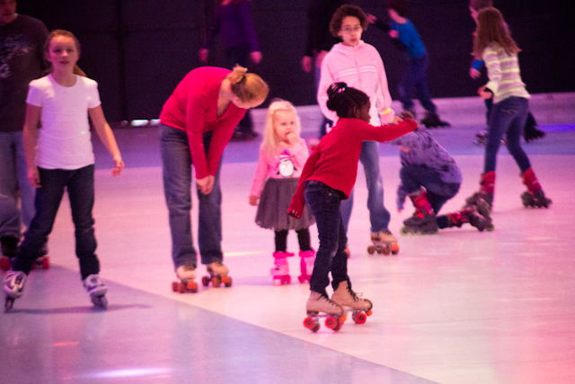 Go roller skating. It's fun for the whole family - especially when you can laugh at yourself for falling down AGAIN.