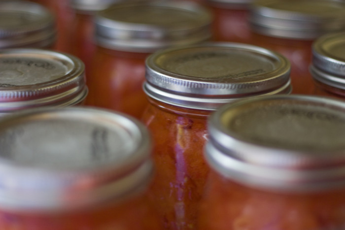16. Get out the canning jars.