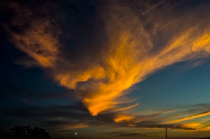 22. Our skies are natural masterpieces.