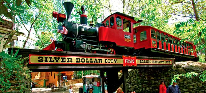 6. Frisco Silver Dollar Line Steam Train, Silver Dollar City, Branson