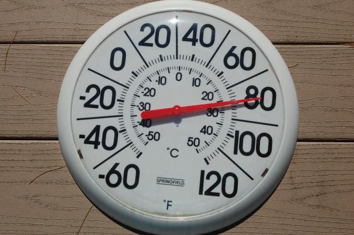 8. The temperature begins to drop.