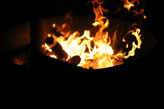 6. And you get the friends together, get some smores supplies, and have yourself a fall bonfire.