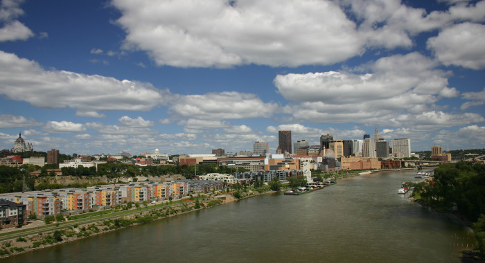 3. This free view of St. Paul from the Smith Ave. Bridge is worth every penny in the bank!
