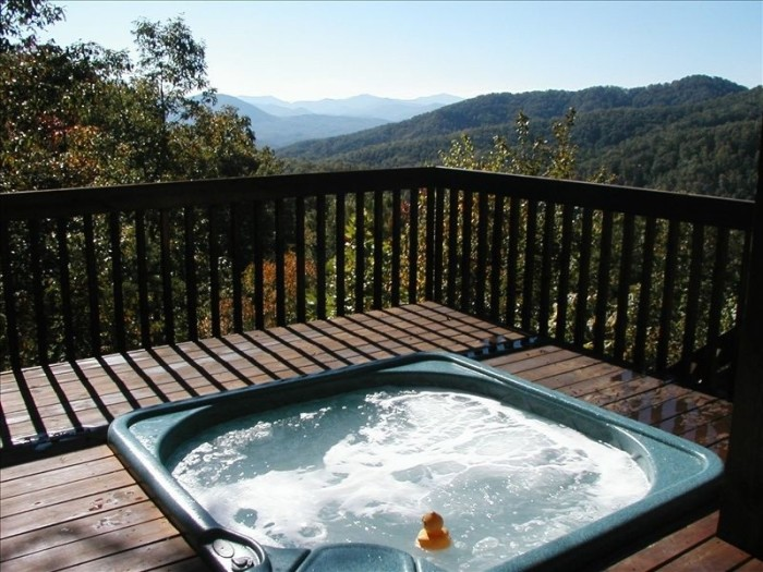 6. Hot tub with a view