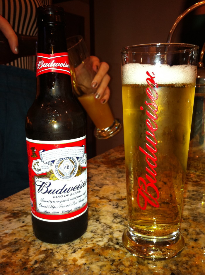 8.  You drink Budweiser almost exclusively.