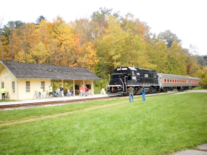 15. Hop aboard a  train and travel a scenic railroad.