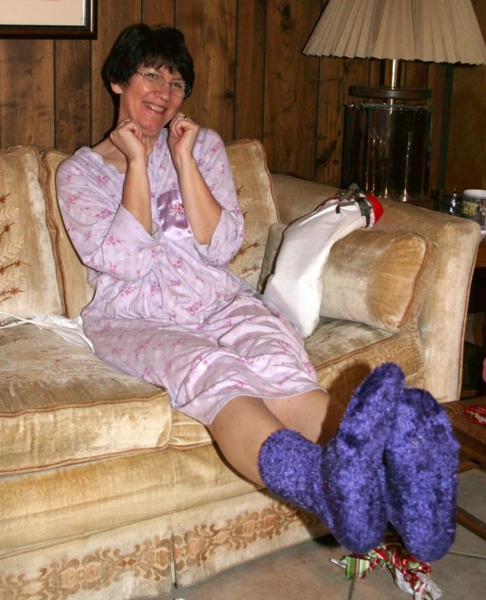 3. Fuzzy socks or slippers.