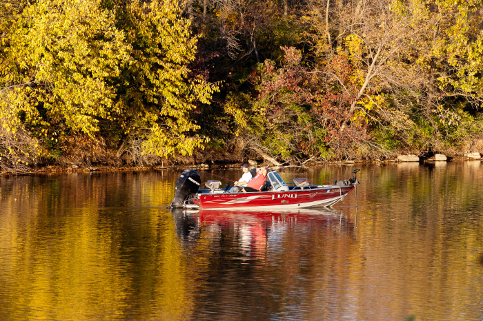 5. Do some fall fishing at Hickory Grove Park in Colo.