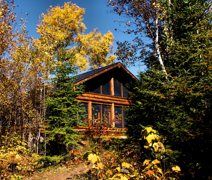 4. Stayed in a cabin, on a lake obviously!