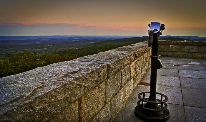 8. Looking east from the base of the High Point Monument.