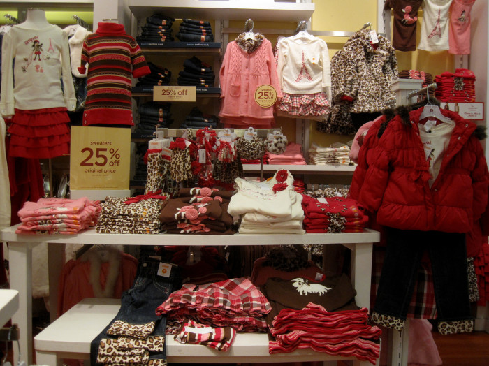 6.  All the clothes in the stores...