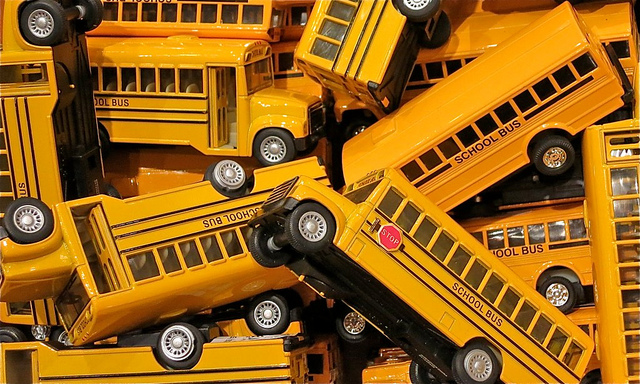 11. There are school buses EVERYWHERE!
