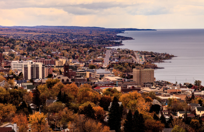 2. Duluth is amazing in this fall shot.