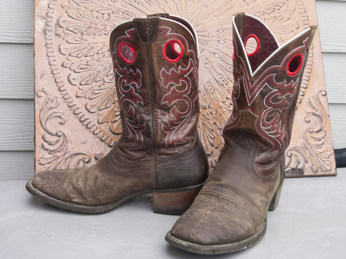 1) Boots. Whether we're talkin' cowboy, work, or hiking boots, you'll find 'em in almost any Texas home.