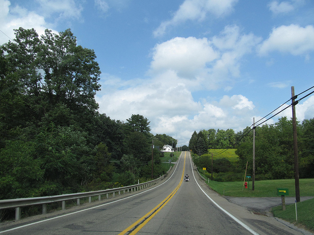 7. Pennsylvania State Route 268 will gently rock you up and down the hilly countryside.