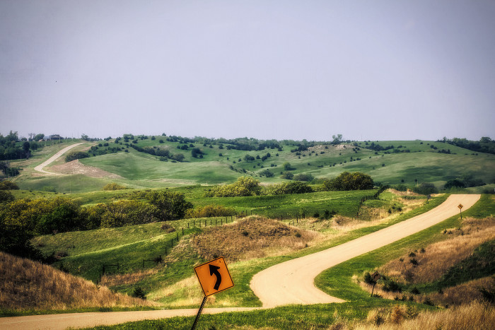 33. A Winding Road Near Ashfall Fossil Beds