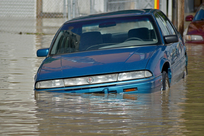 9. Trying to drive on a flooded street during or after a flash flood.