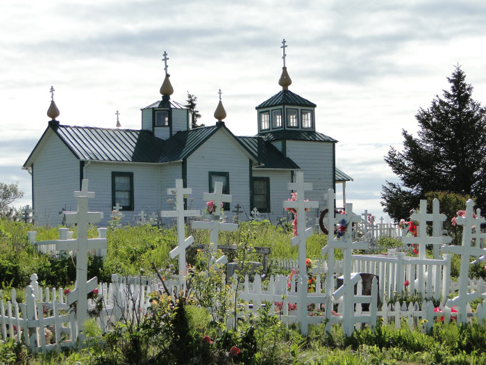 6) Ninilchik, Alaskan Russian Orthodox Church
