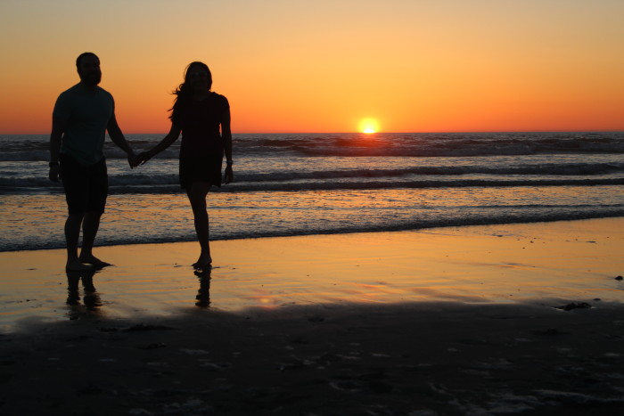 7. We really do like taking long, romantic walks on the beach.