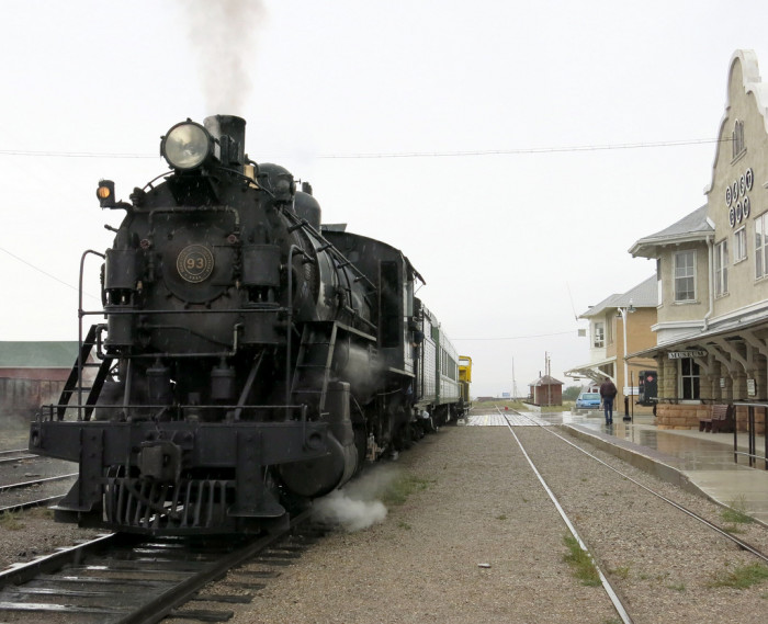 "4. This picture of Nevada Northern Steamer #93 was taken at the East Ely Depot. It's known as the ""Ghost Train"" and is the oldest active train in America."